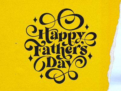 Happy Fathers Day Campaign logotype handmade handmadetype custom type script type hand lettering typography calligraphy lettering