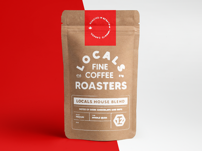 Locals Coffee Packaging espresso branding print toronto coffeeshop coffee lettering package design packaging