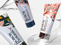 Renew Botanics; Product Shots brand packaging cosmetic packaging female women skincare illustration branding agency brand identity idenity floral pattern floral branding design cream cosmetics branding botanical