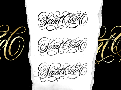 SaintCloud Sketch to Vector sketch logotype handmade custom type script type hand lettering typography calligraphy lettering