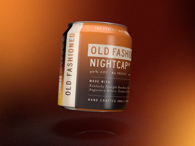 Adobe Live - Old Fashioned Nightcap rtd cocktail rtd cocktail gradient cocktail nightcap branding alcohol branding alcohol spirits package design packaging bourbon