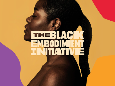 The Black Embodiment Initiative social change color embodiment black brand system logo brand identity branding