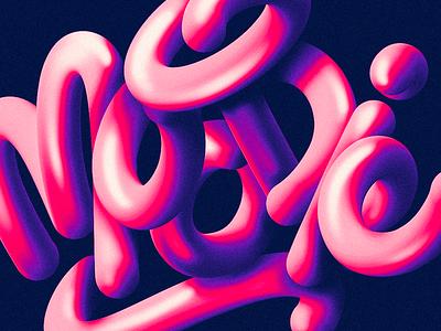MOODIE vector illustration handmade custom type script type hand lettering typography calligraphy lettering