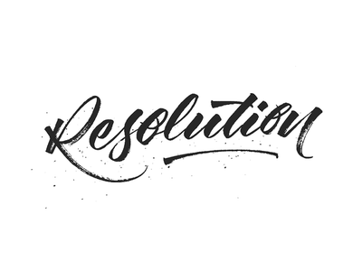 Resolution Sketch lettering typography calligraphy handmade letters tombow hand lettering hand writing hand made type