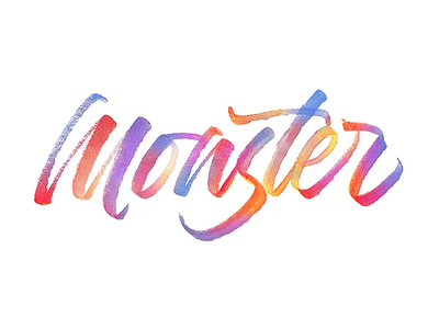 Monster Color Op brushtype calligraphy tombow maker sketch handlettering handmade logotype handmadetype lettering