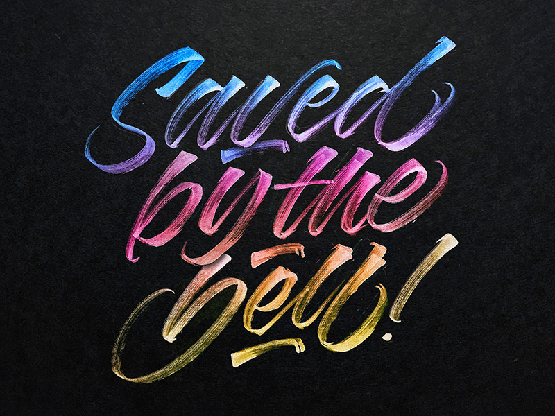 Saved By The Bell By Michael Moodie On Dribbble