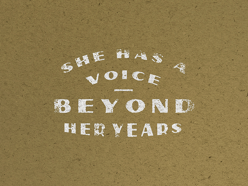 She has a voice beyond her years