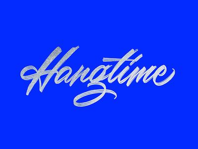 Dribbble Hangtime script calligraphy hand lettering custom type type lettering typography