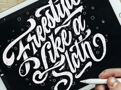 Freestyle procreate ipadlettering script calligraphy hand lettering custom type type lettering typography