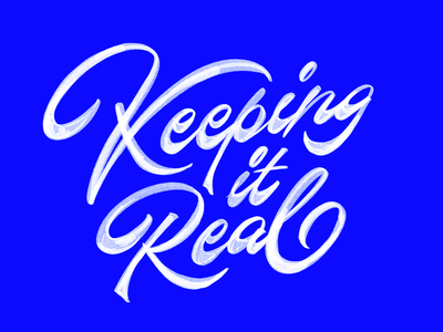 Keeping It Real logo hand made type handlettering logotype handmade custom type script type hand lettering typography calligraphy lettering