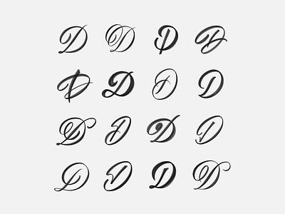 D Exploration brushtype handmadetype handlettering logotype sketch handmade custom type script type hand lettering typography calligraphy lettering