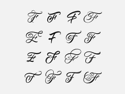 F Exploration hand made type brushtype handmadetype handlettering logotype sketch handmade custom type script type hand lettering typography calligraphy lettering