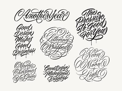 2018 Lettering Wrapped brushpen handmadetype handlettering logotype sketch handmade custom type script type hand lettering typography calligraphy lettering