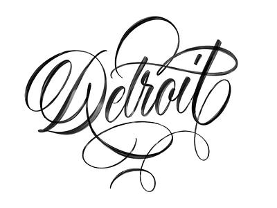Detroit brushpen tombow hand made type brush script brushtype handlettering sketch logotype handmade custom type handmadetype script type hand lettering typography calligraphy lettering