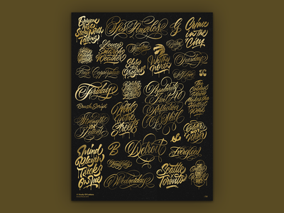 A Study of Letters 2019 - Metallic Screen Print