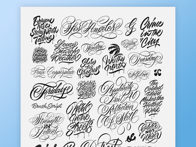 A Study of Letters 2019 vector brush script texture maker tombow brushpen hand made type brushtype handmadetype handlettering sketch logotype handmade custom type script type hand lettering typography calligraphy lettering