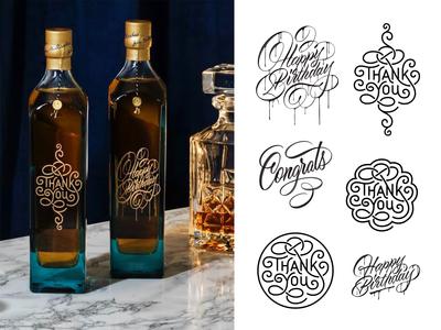Johnnie Walker Blue Label - Celebratory Custom Bottles