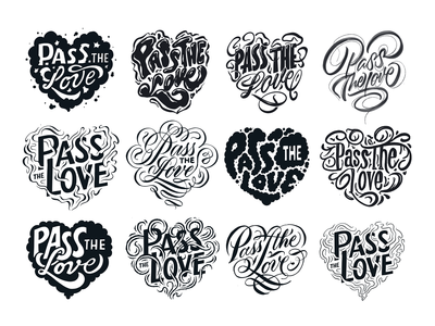 Unused Pass the Love Sketches