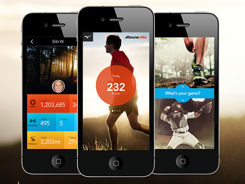 iPhone sports app concept fitness sports iphone ui data mobile running