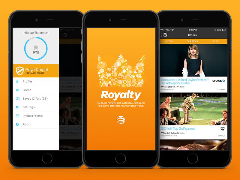 Loyalty Reward App mobile ui