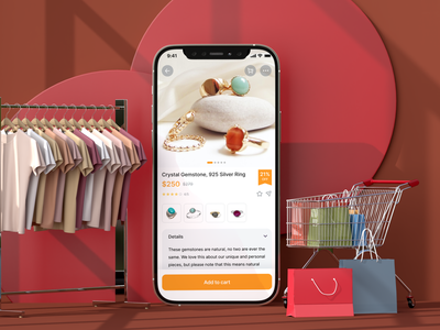 Shopping App, Product detail shopping online mobile shopping