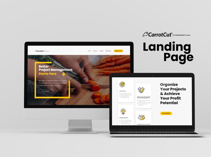 CarrotCut Landing Page