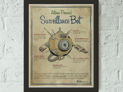 Retro-Futuristic Advertisement vintage retro advertising art branding advertisement vector space art direction illustration science fiction science design