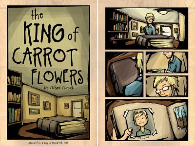 King of Carrot Flowers - Comic comic books pen and ink comic book comic book art comics comic art art direction illustration design