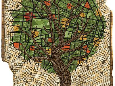 Mosaic Tree Illustration vector nature illustrator
