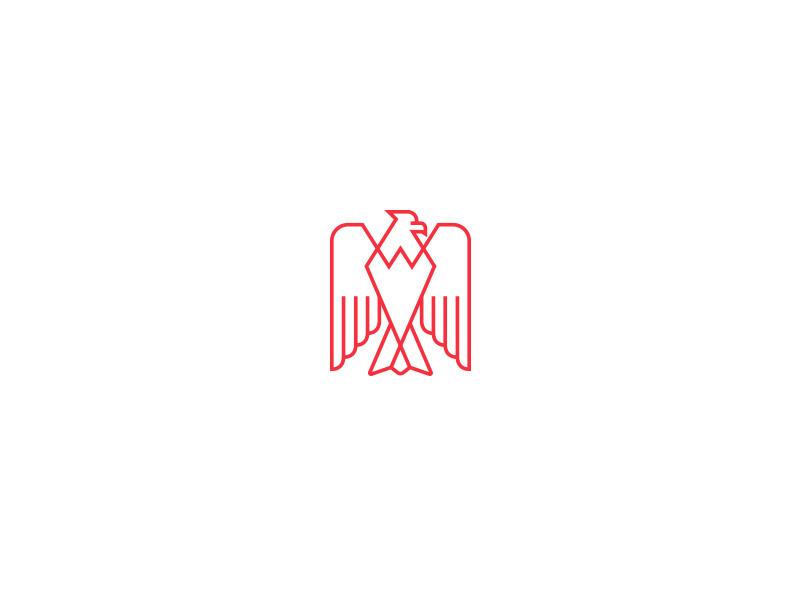Eagle icon illustration monoline freedom america branding logo eagle