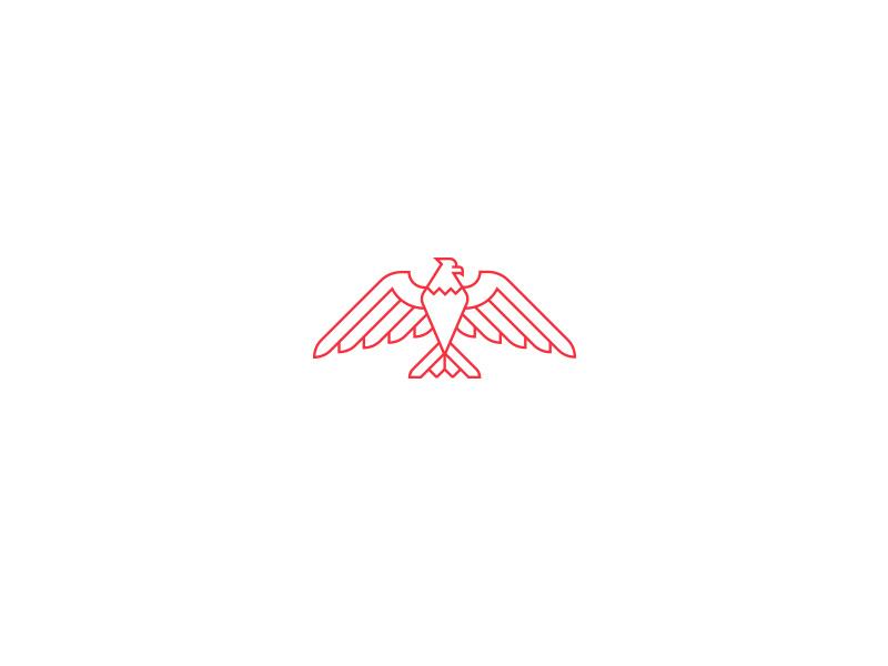 Eagle II icon illustration monoline freedom america branding logo eagle