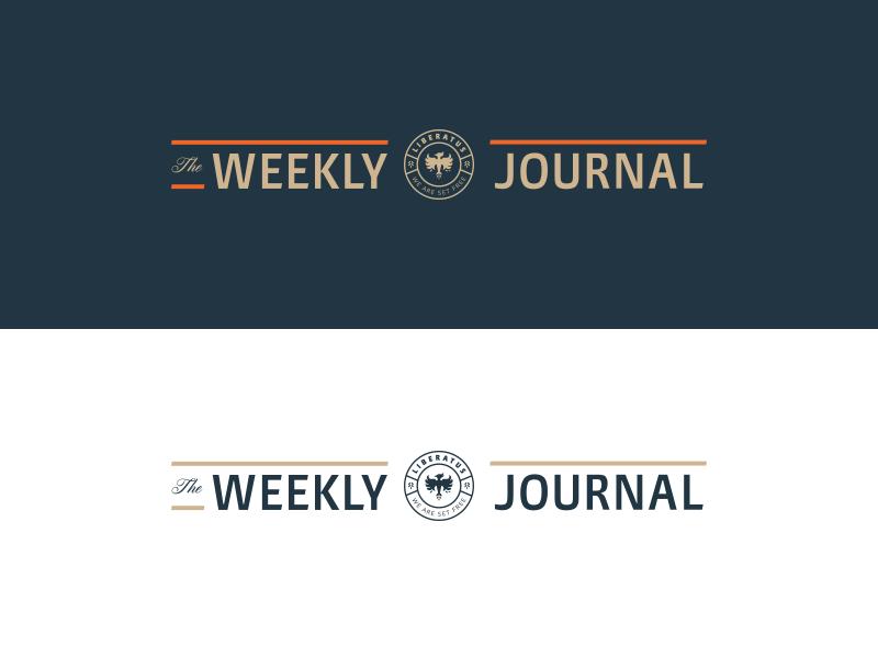 The Weekly Journal type logo journal blog badge lockup identity branding