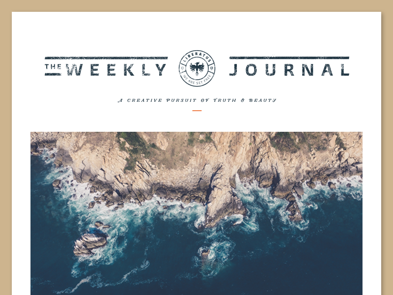 The Weekly Journal II email template email type logo journal blog badge lockup identity branding