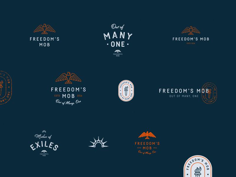 Freedom's Mob Branding eagle america freedom type logo journal blog badge lockup identity branding