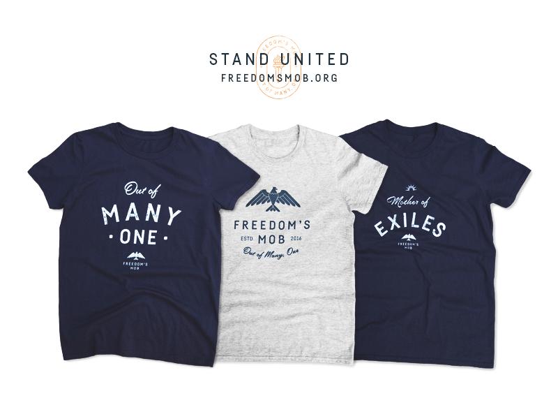 United States of America usa logo freedom unity statue of liberty eagle identity branding apparel t-shirt united states america