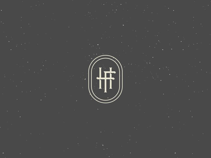 HF II logo branding invitation wedding monogram