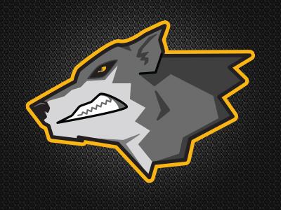 Wolf Mascot identity logo graphic design illustrator vector