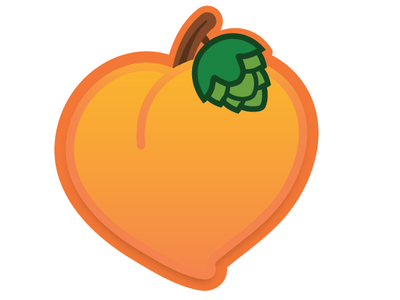 Bless Your Heart Peach APA Icon Exploration beer label packaging illustration adobe illustrator icon