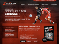 Fit For Soccer Homepage (2008)