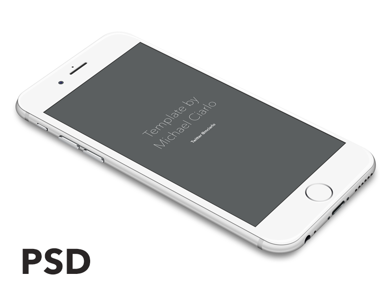 IPhone 6 Vector PSD By Michael Ciarlo