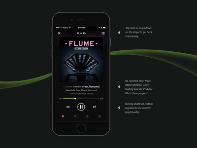 Beatport for iOS and Android interaction design typography ios user experience design product design music player music app motion design mobile app beatport app design