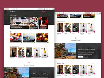 Vine By Me Homepage Mock wines web design vineyard layout homepage e-commerce