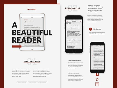 Readability Design Process composition layout ui design reading typography app mobile ios readability
