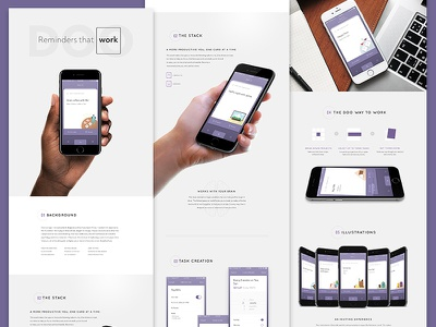 Doo Portfolio Page typography iphone case study portfolio composition layout mobile ios reminders doo