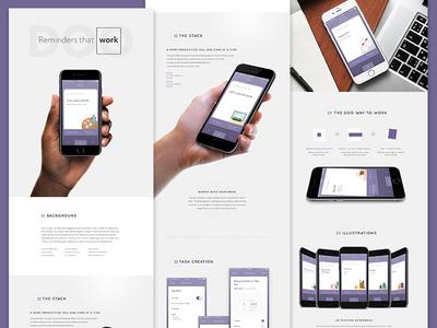 Doo Portfolio Page typography iphone case study portfolio composition layout mobile ios reminders doo