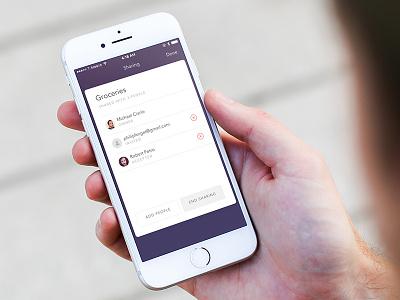 Doo :: iCloud Sharing ios app mobile app cards ios reminders sharing doo