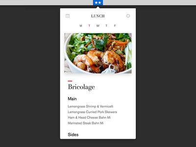 Work & Co Lunch App mac app native app food lunch workco typography app macos menu bar