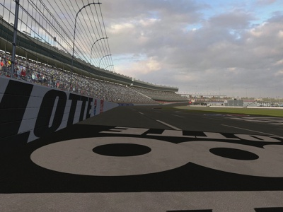 Charlotte Motor Speedway for NR2003 3d modeling charlotte motor speedway video game nr2003 textures modding