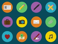 Flat Icon Set for Creatives