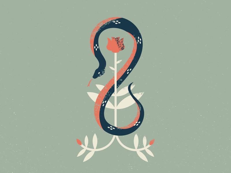 Snakey Boy snack serpant stem flower rose snake